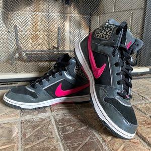 Womens Nike Black,Gray, White & Pink High Tops